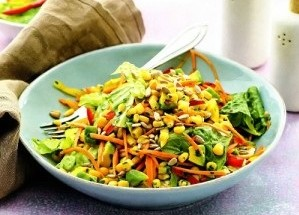 Овощной салат с апельсиновой заправкой