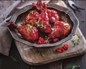 курица в вишневом соусе
