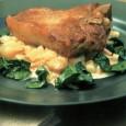 Телячьи отбивные с овощами в сливочном соусе