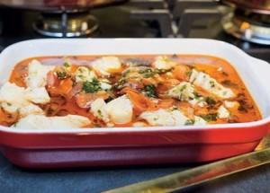 рецепт с помидорами: филе белой рыбы по-мароккански
