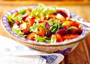 рецепты с помидорами: салат-микс