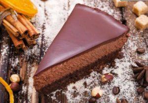 муссовый торт с глазурью черная жемчужина