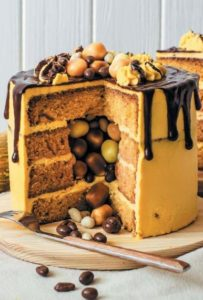 тыквенный торт с сюрпризом внутри