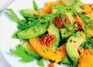 Необычные салаты: салат из помело с авокадо