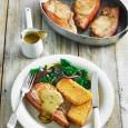 Свиные отбивные с полентой и горчичным соусом