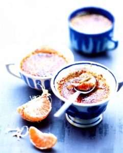 Крем-брюле с мандарином и черным чаем