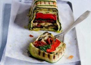 Террин из запеченных овощей с базиликом