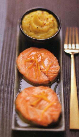 Турнедо из лосося с цитрусовым соусом