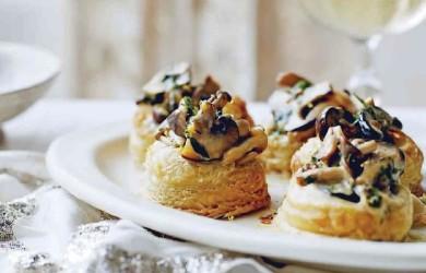 Волованы с грибами в сливочном соусе