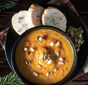Палестинский суп с тыквой и красной чечевицей