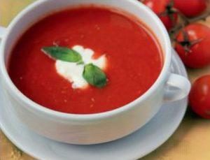 Суп из запеченных томатов-черри