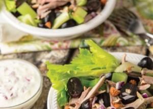 Необычный салат из индейки