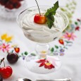 Ванильный творожный мусс с ягодами
