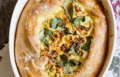 Открытый сырный пирог по-аджарски