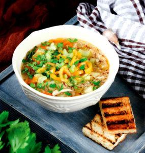 Перуанский куриный суп с киноа