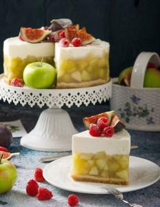 Яблочно-ванильный чизкейк без выпекания