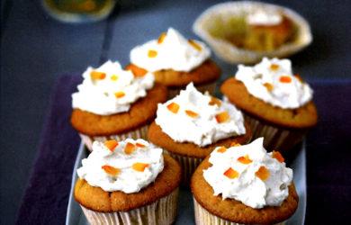 апельсиновые капкейки