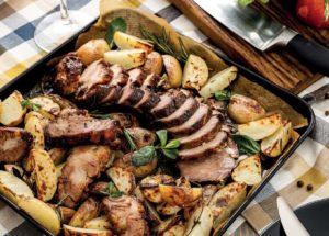 Свинина по-кубински с запеченным картофелем