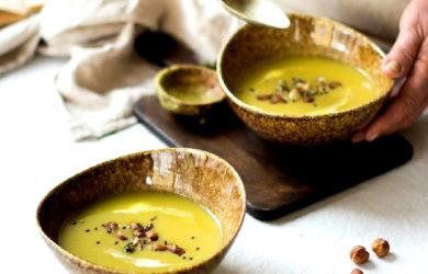 Крем-суп «яблоко-сельдерей»