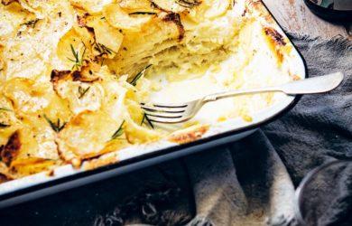 Гратен из корневого сельдерея и картофеля