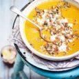 Пряный тыквенно-яблочный суп с беконом