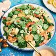 Морской салат с рыбой и морепродуктами