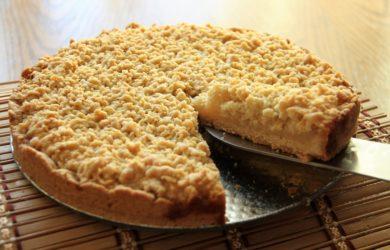 Лимонный пирог с крамбловой корочкой