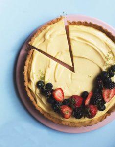 лимонный тарт с заварным кремом