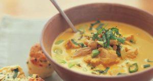 Тыквенно-апельсиновый суп-пюре с курицей