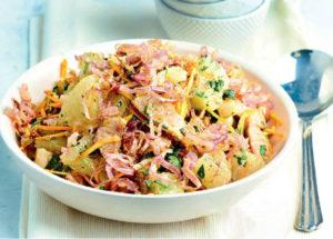салаты с мясом: азиатский салат со свининой и помело
