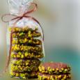 шоколадное печенье с фисташками