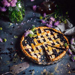 Пирог с черникой и чаем «Эрл Грей»