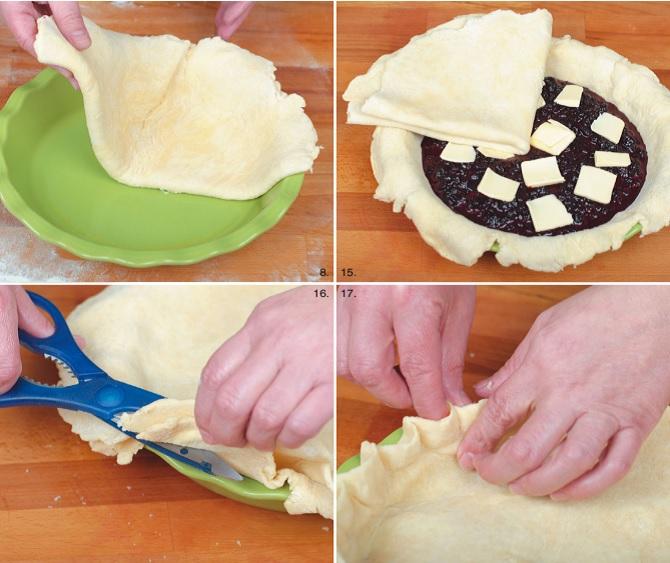 закрытый черничный пирог пошаговый рецепт