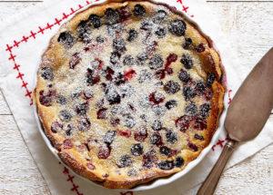 ягодные десерты - вишневый клафути