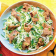 Салат из капусты со свининой