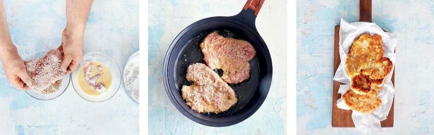 как готовить куриный шницель в панировке