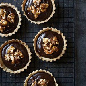шоколадные тарты с орехами