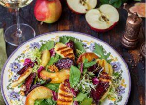 Рецепты овощных салатов с запеченной свеклой