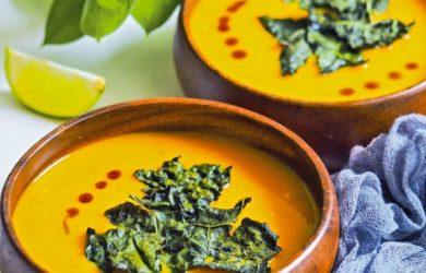 Тыквенный суп-пюре с апельсином
