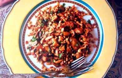 салат из курицы и баклажанов