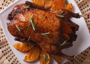 рецепты с апельсинами: запеченная утка