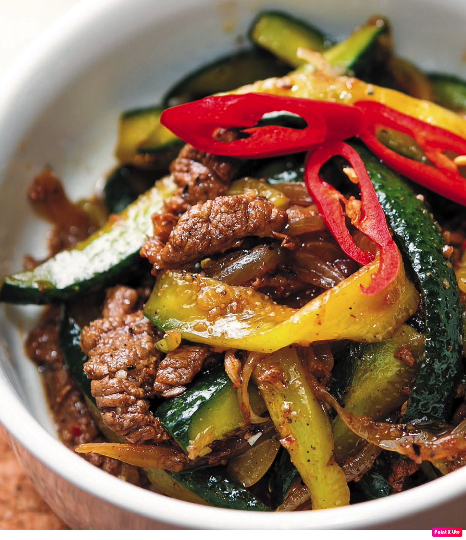 Ве-ча – корейский салат из огурцов с мясом
