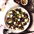 Салат из запеченной свеклы с адыгейским сыром
