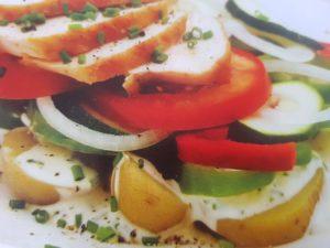 салат из курицы и картофеля