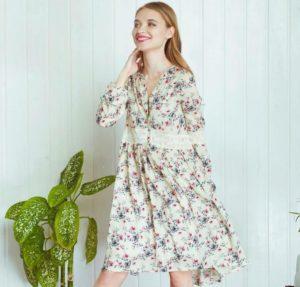 Платья в мелкий цветочек в деревенском стиле