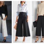Широкие штаны женские с высокой талией